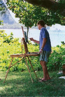 Pierre Bouret painting plein air